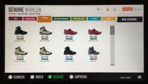 Anzeige der passenden Schuhe