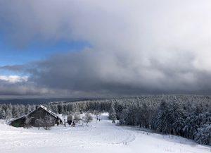 Blick auf die Gehlberger Hütte