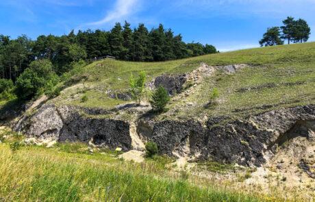 Blick auf das Geotop Kalvarienberg.