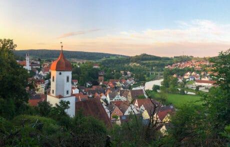 Aussicht von Schloss Harburg auf die Stadt