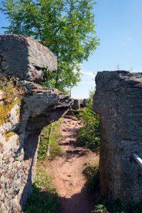 Ankunft auf der Ruine Neukastel