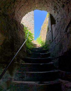 Treppenaufgang zur Ruine Scharfenberg