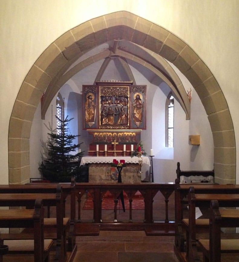 Im Innern der St. Annakapelle